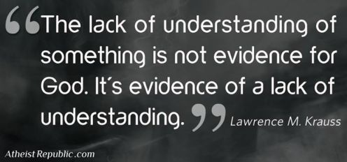 Lack of Understanding Is Not Evidence For God